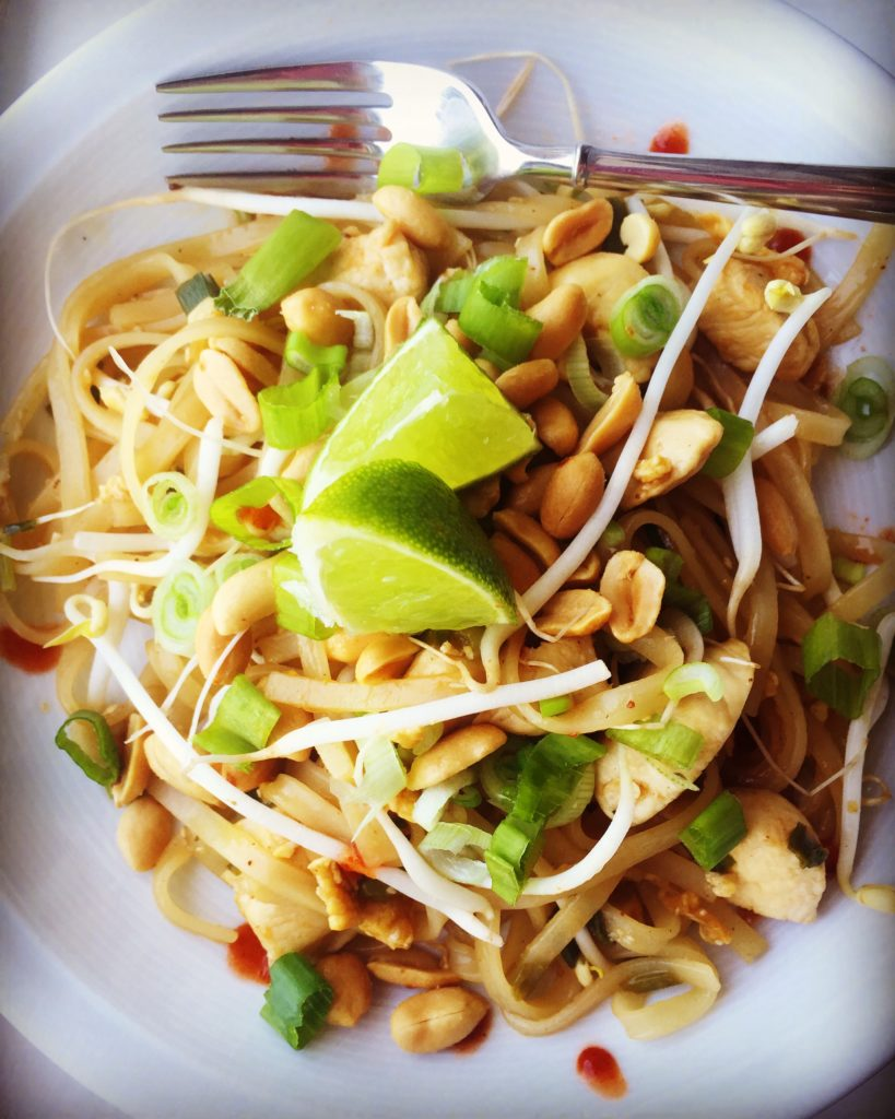 Restaurant meals at home pad thai the busy family for At home thai cuisine