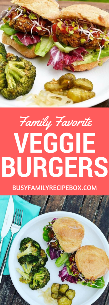 Black Bean Veggie Burgers Busy Family Recipe Box